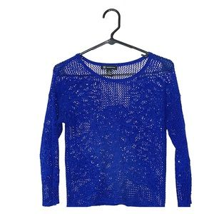 INC International Concepts Blue Knitted Sweater